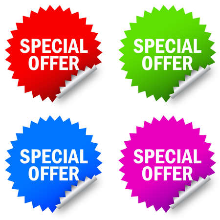 special offer label Vector