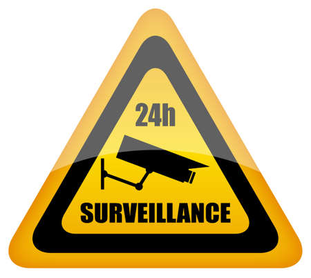 video surveillance sign Stock Vector - 10428467