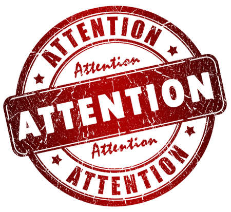 Attention stamp Stock Photo - 10428515