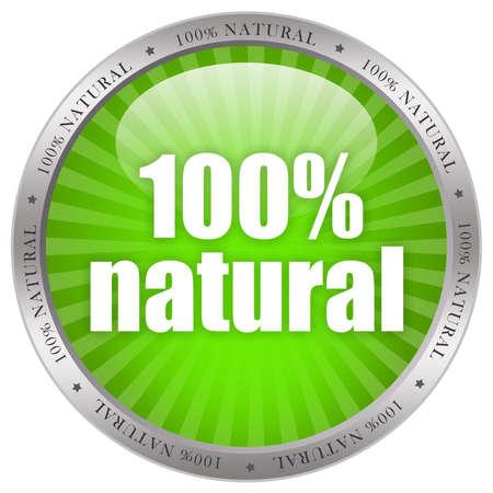 percent sign: Natural product label