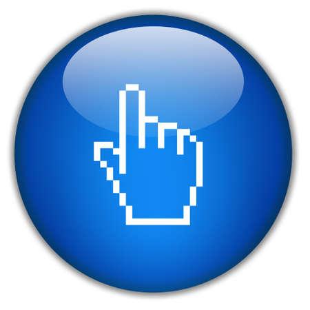 Icono de mano, haga clic aquí