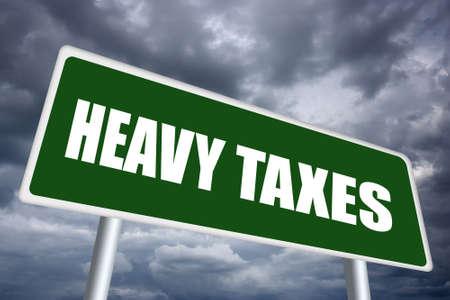 wirtschaftskrise: Hohe Steuern, Wirtschaftskrise Konzept Lizenzfreie Bilder