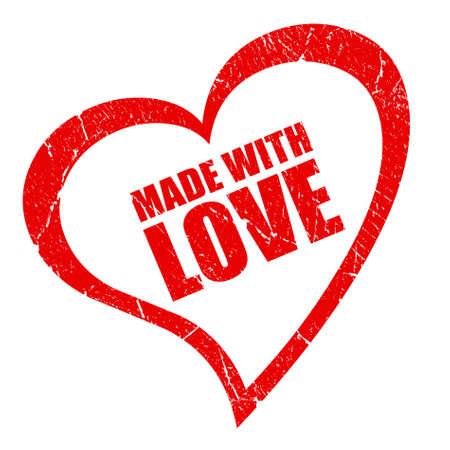 rendu: Fabriqu� avec le symbole d'amour