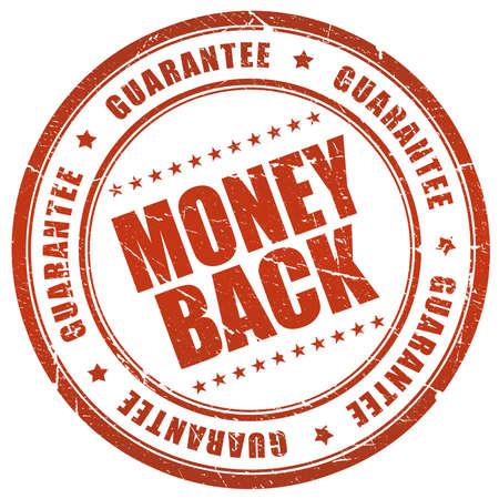 round back: Money back guarantee Stock Photo