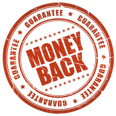 money symbol: Money back guarantee Stock Photo