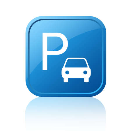 cars parking: Parking sign Stock Photo