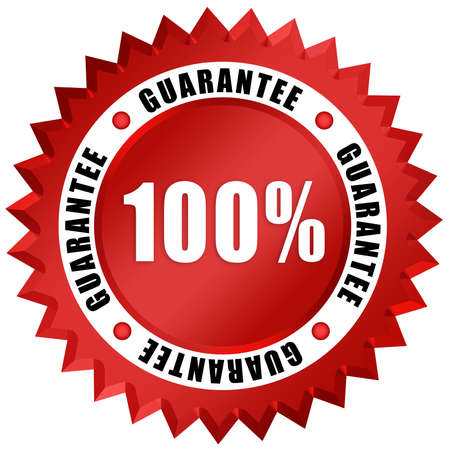 quality guarantee: Guarantee seal Stock Photo