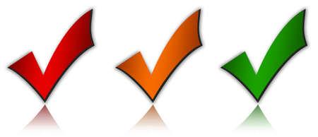 check icon: Conjunto de marcas de verificaci�n