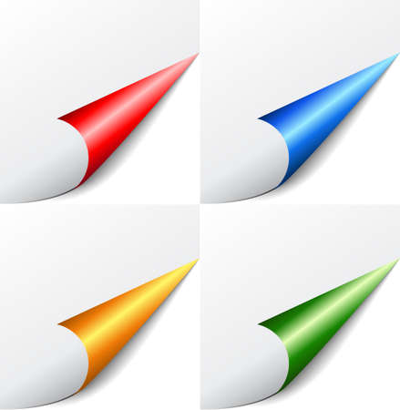 curling: Vector colored corners