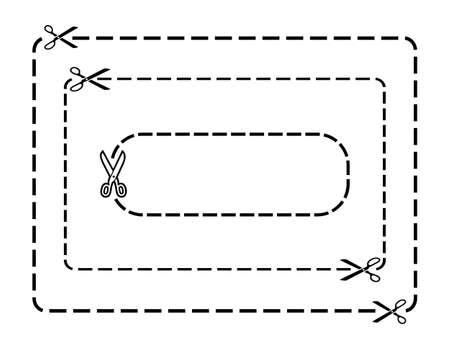buono sconto: Confini cedola Vector