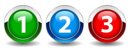 nombres: Bouton de nombres, illustration vectorielle
