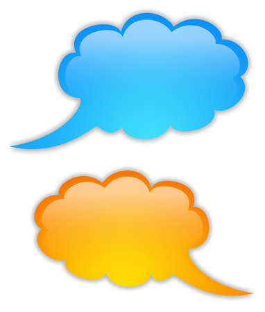 Glossy speech bubbles set Stock Photo