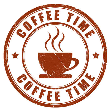 Coffee time stamp Stock Photo - 10567267