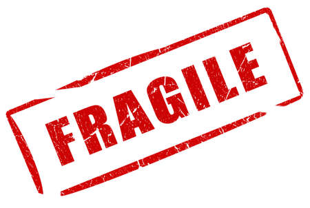 Fragile stamp Stock Photo - 10567258