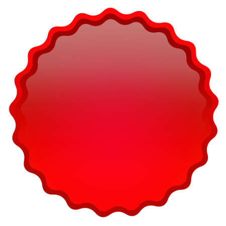 blank tag: Red curly glossy icon