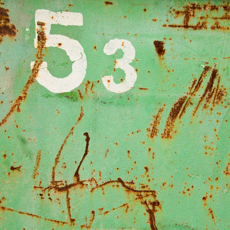 Grunge fifty three number photo