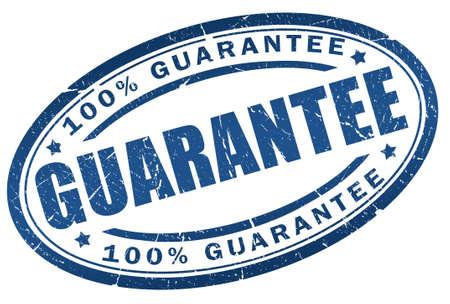 Guarantee blue stamp Stock fotó