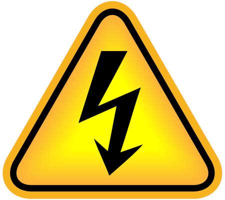 electric shock: Señal de alto voltaje Foto de archivo