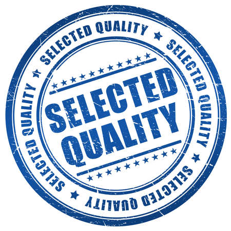 quality seal: Selected quality stamp