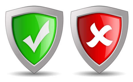 approved: Security access icons Stock Photo