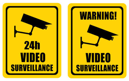 cctv security: Video surveillance sign
