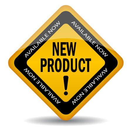 vendeurs: Signe de nouveaux produits, illustration vectorielle