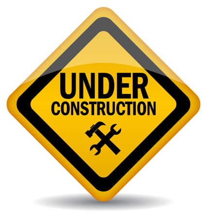 construction sites: Vector sign under construction