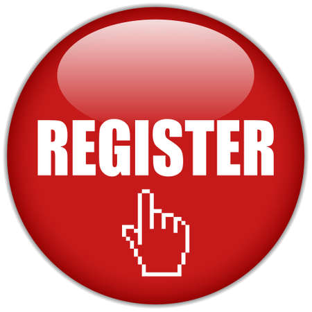 knop: Vector registreren button Stock Illustratie