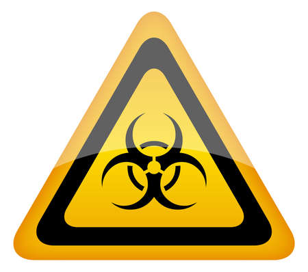 infectious waste: Biohazard warning sign, vector illustration Illustration