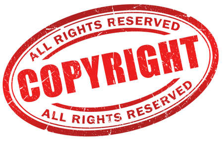 Copyright Grunge Symbol Stock Photo Picture And Royalty Free Image