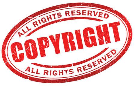 plagiarism: Copyright grunge symbol