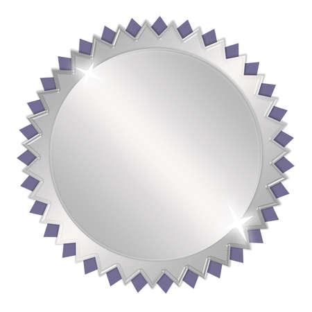 premi: Blank medaglia d'argento premio Archivio Fotografico
