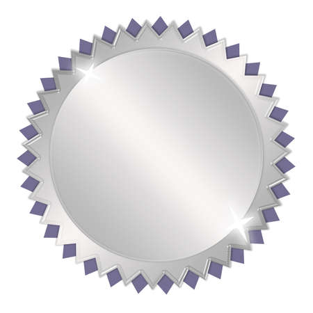Blank silver award medal photo