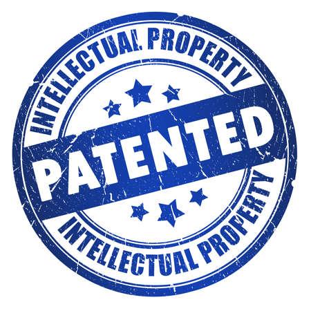 Sello patentado de propiedad intelectual Foto de archivo