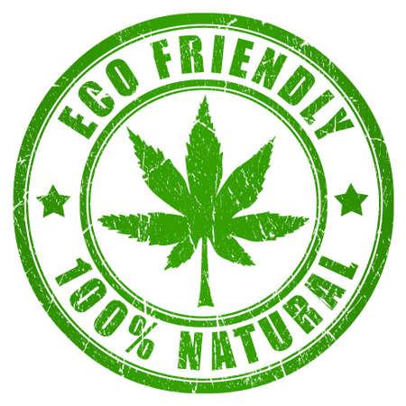 Cannabis eco friendly stamp photo
