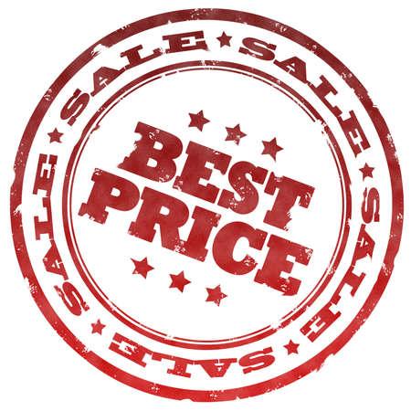 best price: Best price red stamp Stock Photo