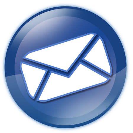 Blue email button photo