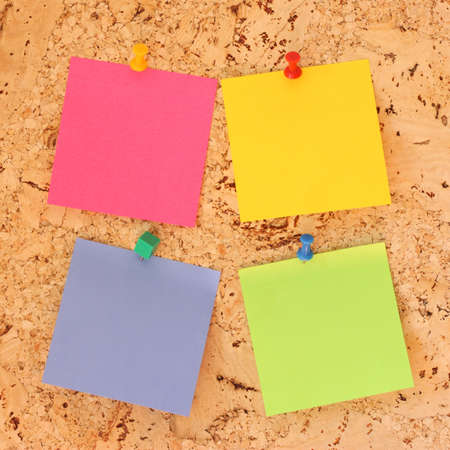 cork sheet: Note paper stickers
