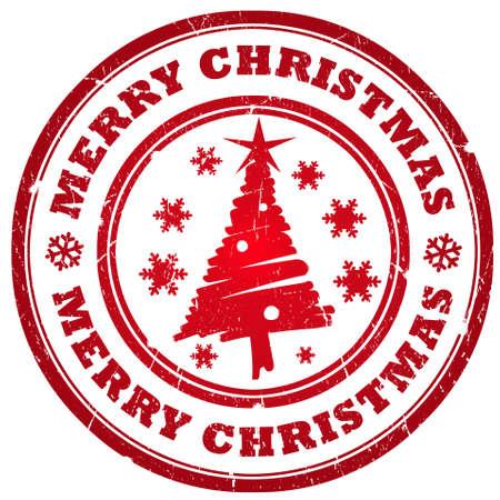 Merry christmas stamp Stock Photo - 11410363