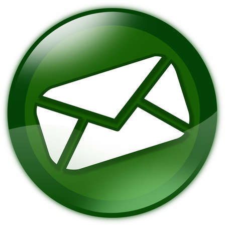 e mail: Green glass email button