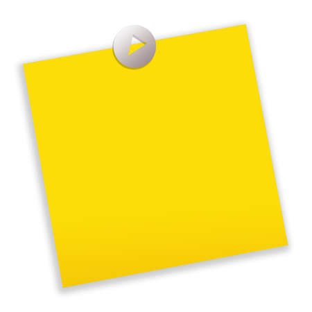 Yellow blank post-it paper photo