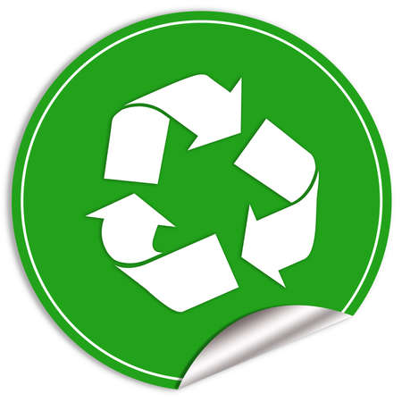Recycle green sticker photo