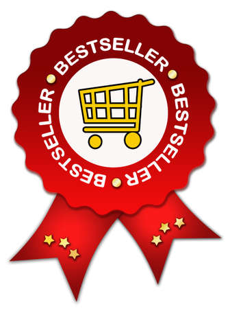 best seller: Bestseller icon with ribbon Stock Photo