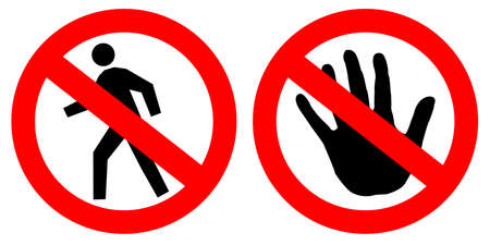 no trespassing: No hay se�ales de entrada de m�s de blanco