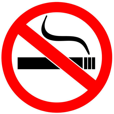 no smoking: No smoking sign over white Stock Photo