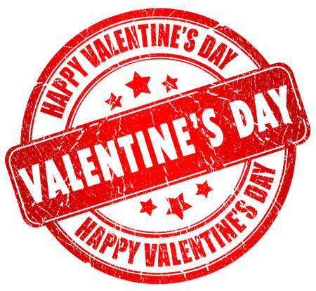 Happy valentines day stamp photo