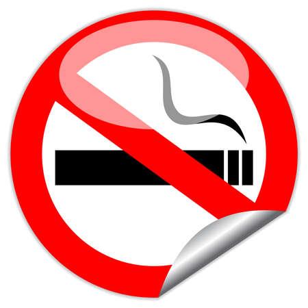 No hay se�ales de vectores de fumar, eps10 ilustraci�n