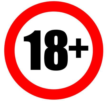 Eighteen years old sign