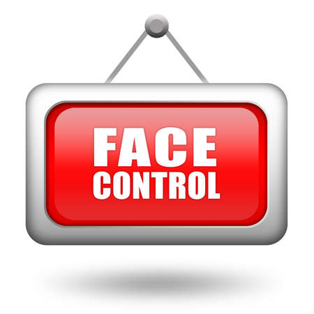 closed door: Face control sign