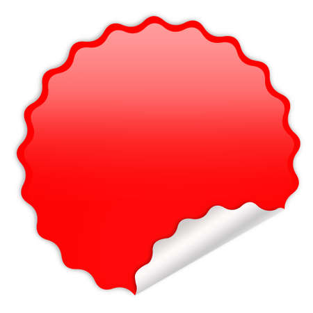 Blank red sticker photo